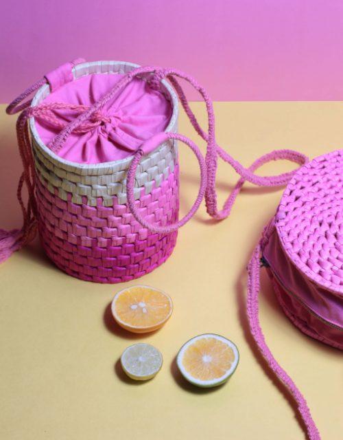 Bobbi Palm Bucket Bag